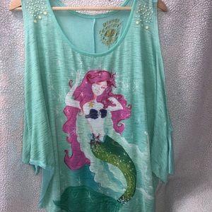 A littler mermaid open sleeve shirt